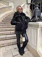 Черная зимняя куртка ZLLY 20436-01, фото 6