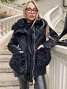 Черная зимняя куртка ZLLY 20436-01, фото 3