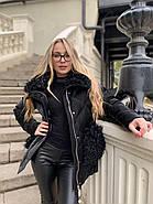 Черная зимняя куртка ZLLY 20436-01, фото 5