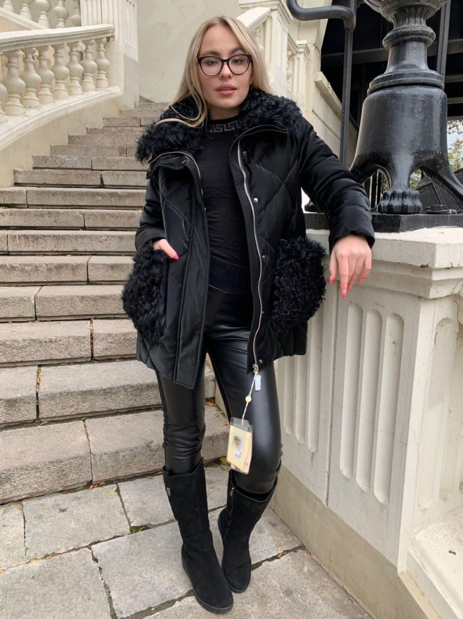 Чорна зимова куртка ZLLY 20436-01