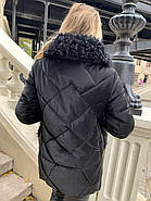 Черная зимняя куртка ZLLY 20436-01, фото 7