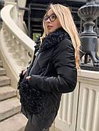 Чорна зимова куртка ZLLY 20436-01, фото 4