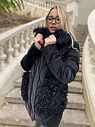 Черная зимняя куртка ZLLY 20436-01, фото 2