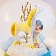 Снігова куля c автоснегом і підсвічуванням Love unicorn №1, фото 3