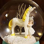 Снігова куля c автоснегом і підсвічуванням Love unicorn №1, фото 6