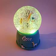 Снігова куля c автоснегом і підсвічуванням Love unicorn №1, фото 4