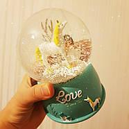 Снігова куля c автоснегом і підсвічуванням Love unicorn №1, фото 8