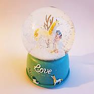 Снігова куля c автоснегом і підсвічуванням Love unicorn №1, фото 2
