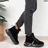 Кроссовки женские черные Зима 5584, фото 3