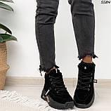 Кроссовки женские черные Зима 5584, фото 4
