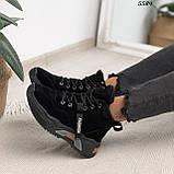 Кроссовки женские черные Зима 5584, фото 6