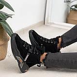 Кроссовки женские черные Зима 5584, фото 7