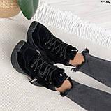 Кроссовки женские черные Зима 5584, фото 9