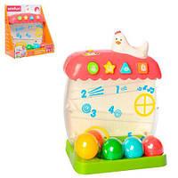 Гра 0727-NL будиночок, кульки 5 шт., звуки тварин, муз., бат., кор., 28-24-14 см.