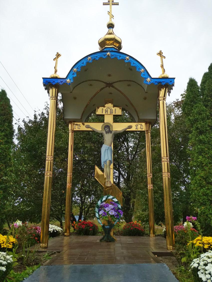 Часовня из металла с крестом поклонным 3*3m