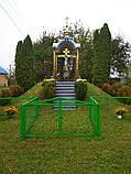 Часовня из металла с крестом поклонным 3*3m, фото 4