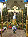 Часовня из металла с крестом поклонным 3*3m, фото 3