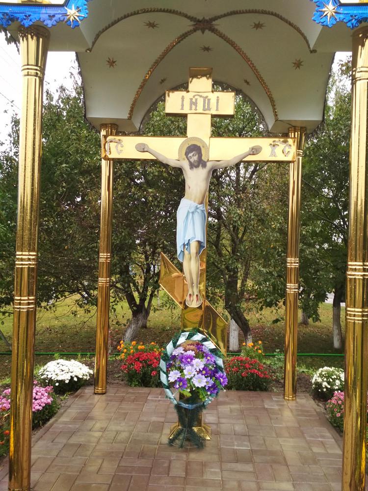 Поклонный крест из булата разных размеров 3м