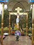 Поклонный крест из булата разных размеров 3м, фото 4