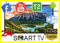 Телевизор samsung смарт 24 диагональ Телевизор Samsung 24 дюйма SMART TV Full HD Wi-Fi T2 Android 9,0 гарантия
