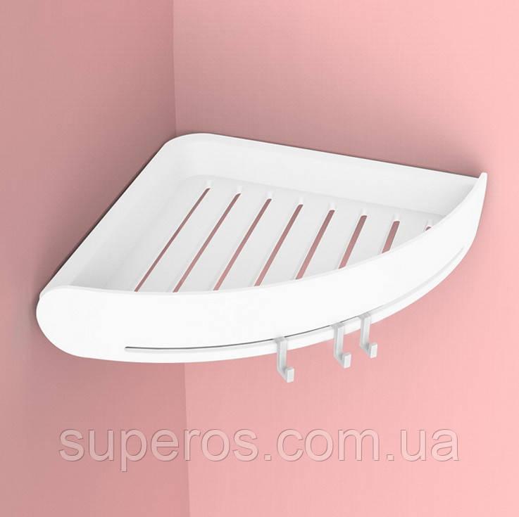 Полиця для ванної кімнати кутова біла Mensola bianca