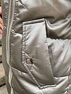 Короткий пуховик с мехом  ZLLY 20439-19, фото 5