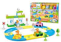 """Детский игровой набор конструктор автотрек XZ-508 для малышей """"Поезд динозавров"""""""