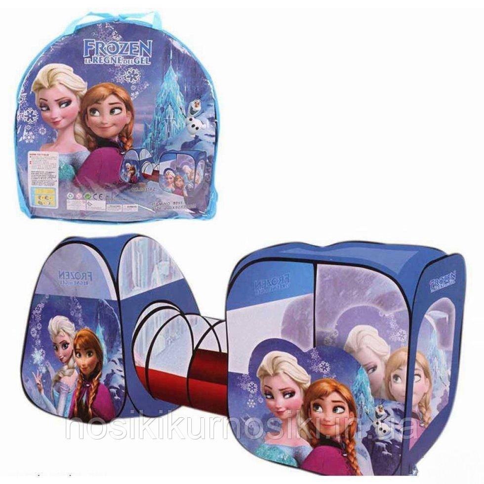 Намет дитячий ігровий з тунелем 8015 Фроузен Frozen, розмір 270-92-92 см, в сумці