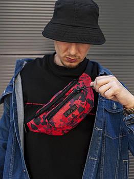 Поясная сумка BEZET red camo'20