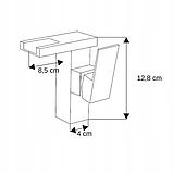 Змішувач на раковину низький HUGO LED / Хром, фото 2