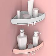 Полка для ванной комнаты угловая серая Mensola grigia, фото 5