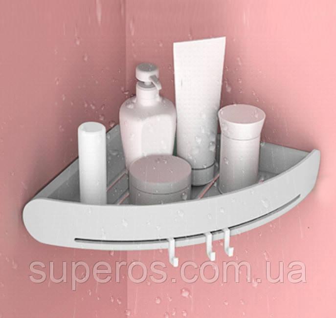 Полка для ванной комнаты угловая серая Mensola grigia