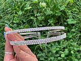 Подвійний обруч з кристалами та китицями (2Х3), фото 7
