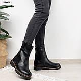 Женские ботинки кожаные Зима 5570, фото 3