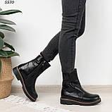 Женские ботинки кожаные Зима 5570, фото 4