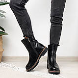 Женские ботинки кожаные Зима 5570, фото 5
