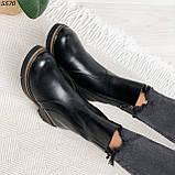 Женские ботинки кожаные Зима 5570, фото 8