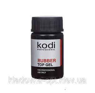 Каучуковое верхнее покрытие (топ/финиш) для гель-лака Kodi Profesional, 14 ml