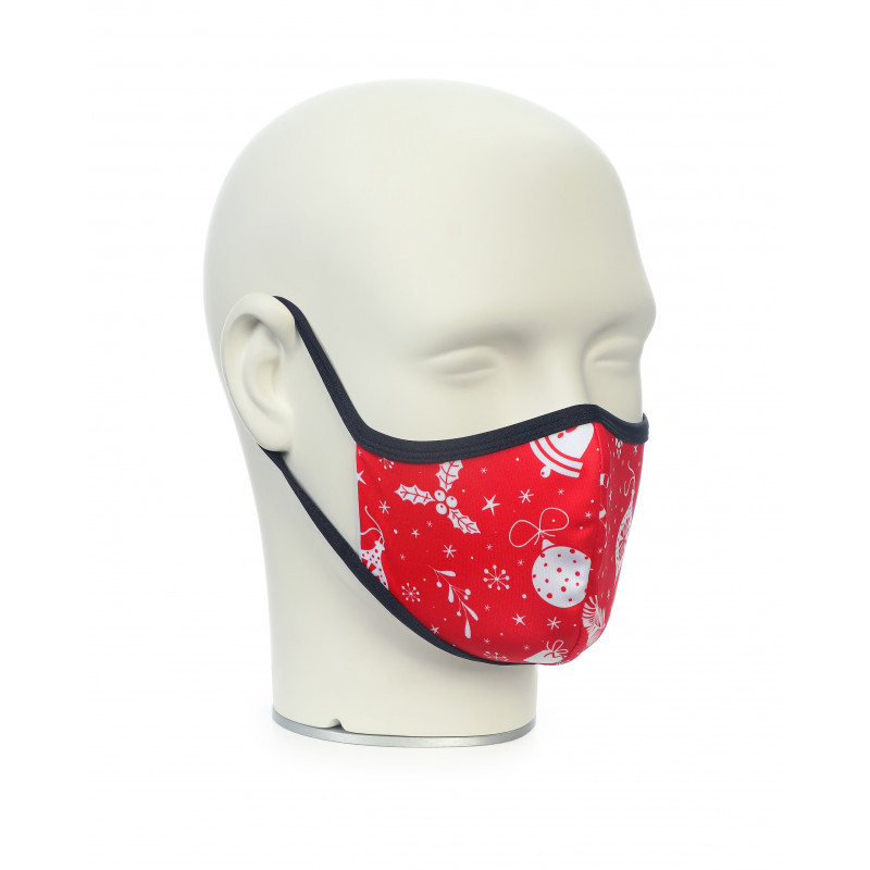 Маска для обличчя Noname WS FACE MASK CHRISTMAS RED 5
