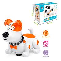 Интерактивное животное Собачка 688 2 цвета, свет, звук, музыка, размер игрушки - 20*10*15,5см, в коробке