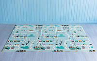 Детский двусторонний коврик Аттракцион - Ростомер складной развивающий коврик термо 2м х 1,5м х 10 мм