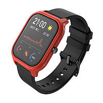 Amazfit GTS Комплект для смарт годин (ремінець і бампер), Black-Red, фото 5