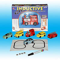 Индуктивная игрушка машина,едет по нарис.линии, в кор. 19*13,7*5,2см /96-2/