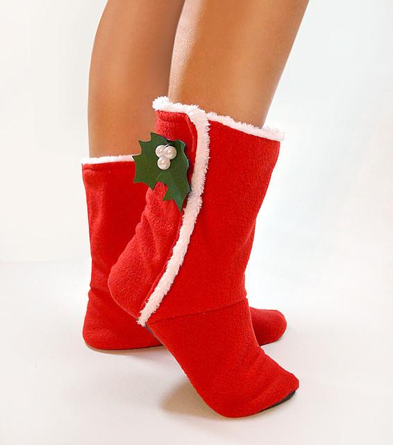 """Новогодние тапочки tf 47 """"Merry Christmas"""""""