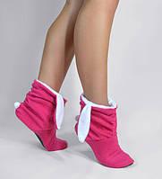 """Модные тапочки tf 12 """"Зайчики"""" розово-белые, фото 1"""