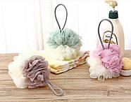 Тканевая шторка для ванной и душа 180х200 см Полевые цветы бежевая, фото 5