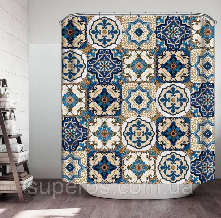 Тканевая шторка для ванной и душа 180х200 см Византия