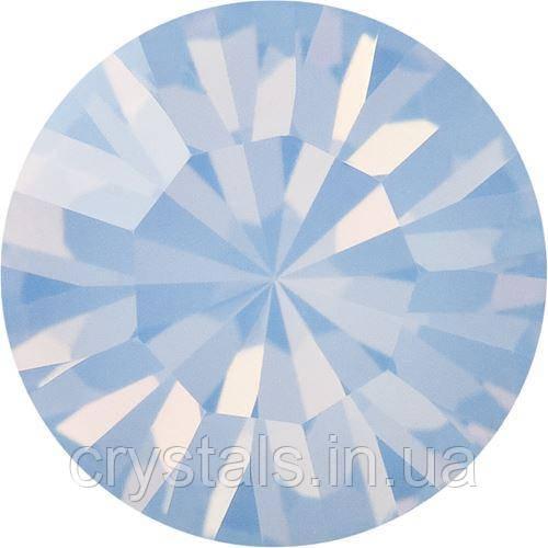 Пришивные стразы в цапах Preciosa (Чехия) ss29 Light Sapphire Opal/золото