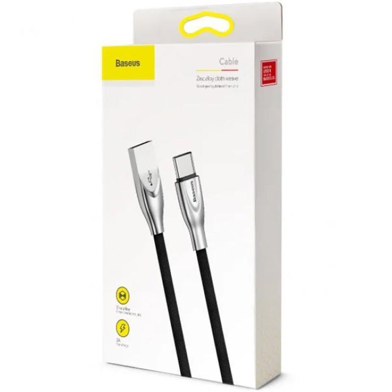 USB кабель Baseus Zinc Fabric Cloth Weaving Type-C Black 1m