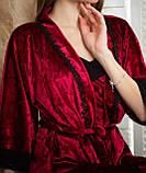 Жіноча піжама: халат, майка і шорти, фото 4
